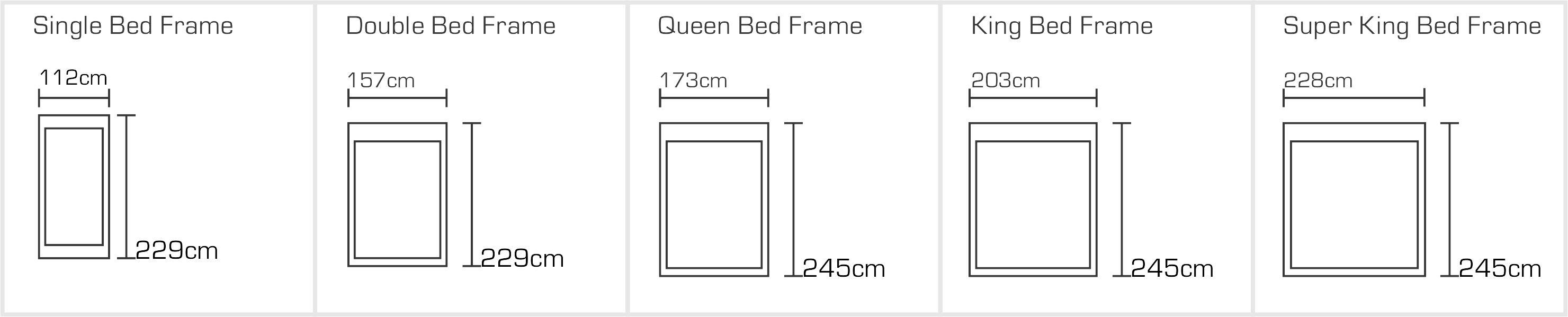 Zonda Bed Sizes